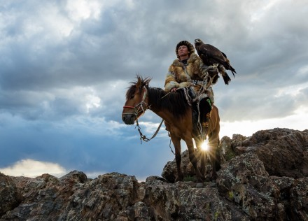 Mongolia eagle hunters