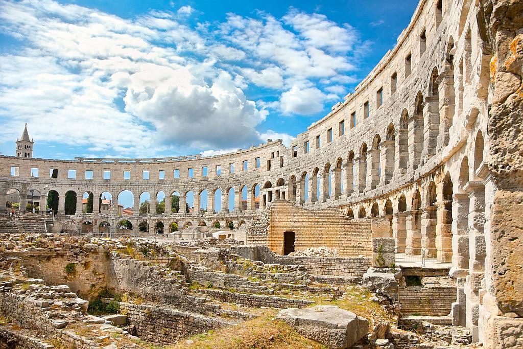 Croatia roman ruins