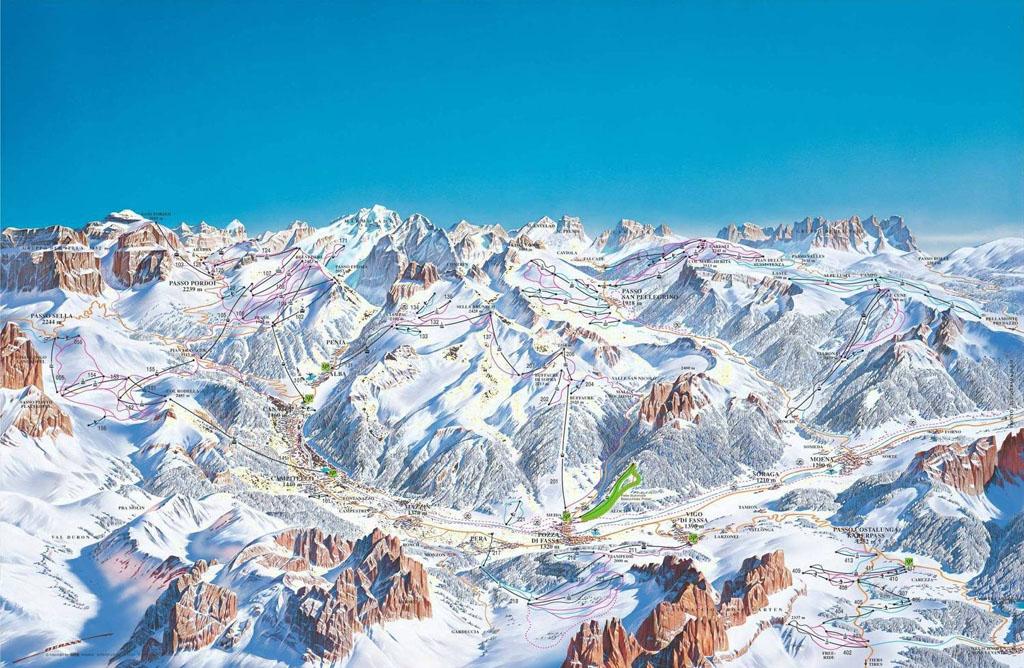 Campitello di Fassa Italia ski