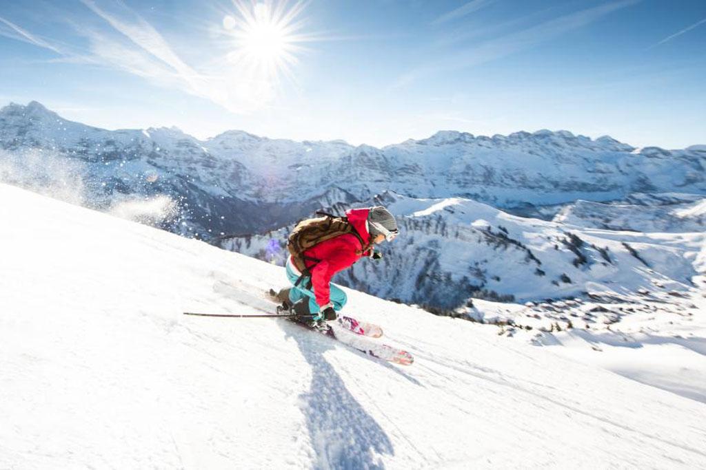 Snowboard in Portes du Soleil