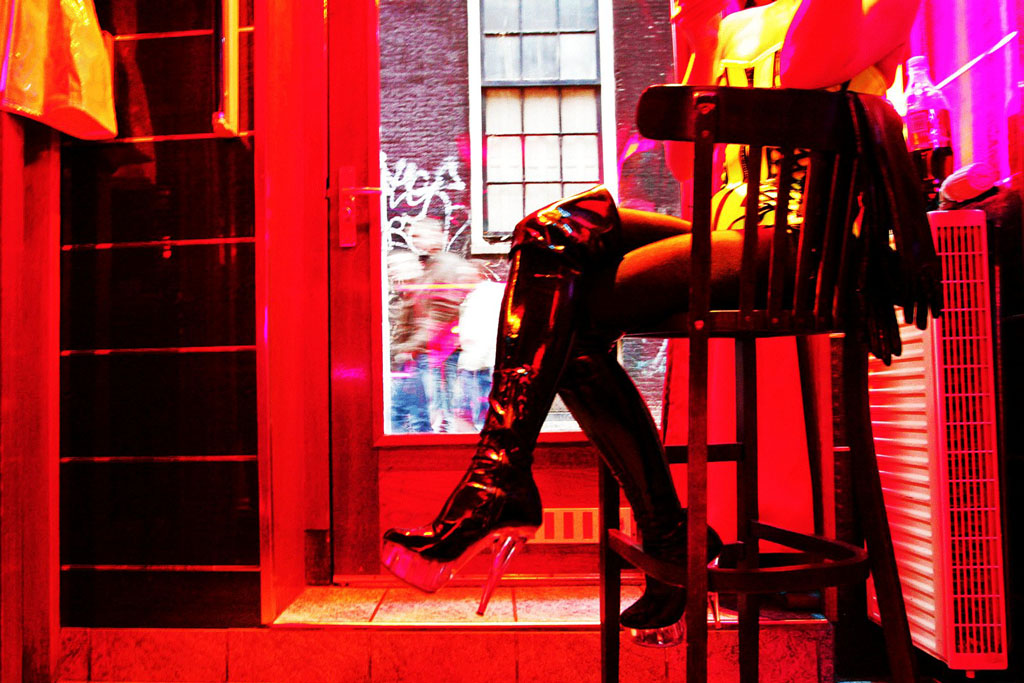 The Red District in Amsterdam