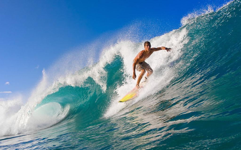 Surfing adventure sport